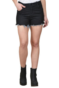 Castle Black Cut-Offs-Denim-Shorts