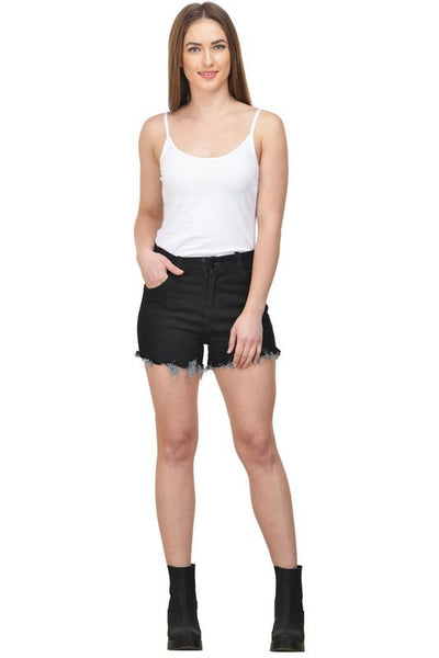 Castle Black Cut-Offs-Denim-Shorts - Castle Lifestyle