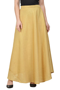 Castle Fawn Solid Raw Silk Skirt
