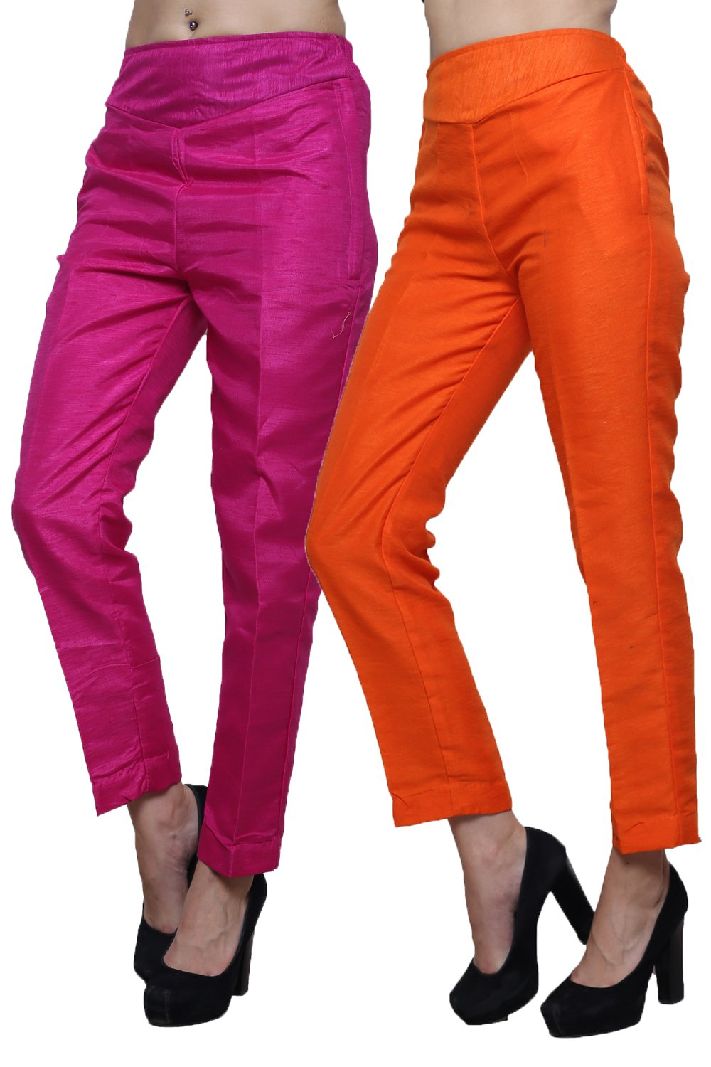 Castle Pack of 2 Raw Silk Pencil Pants