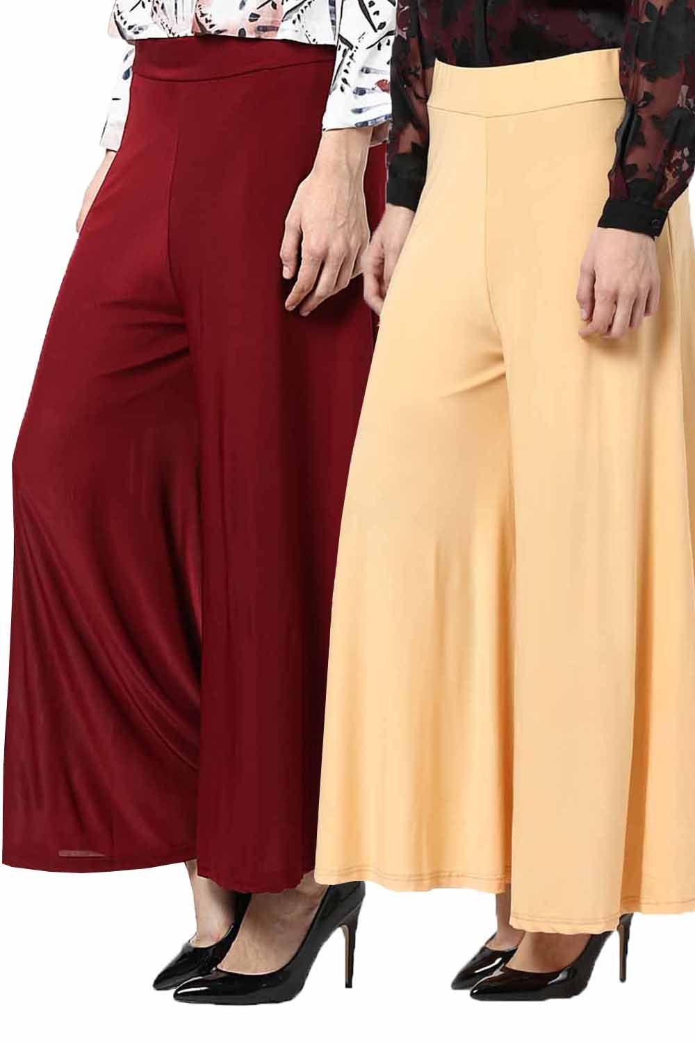Castle Pack Of 2 Crystal Lycra Palazzo