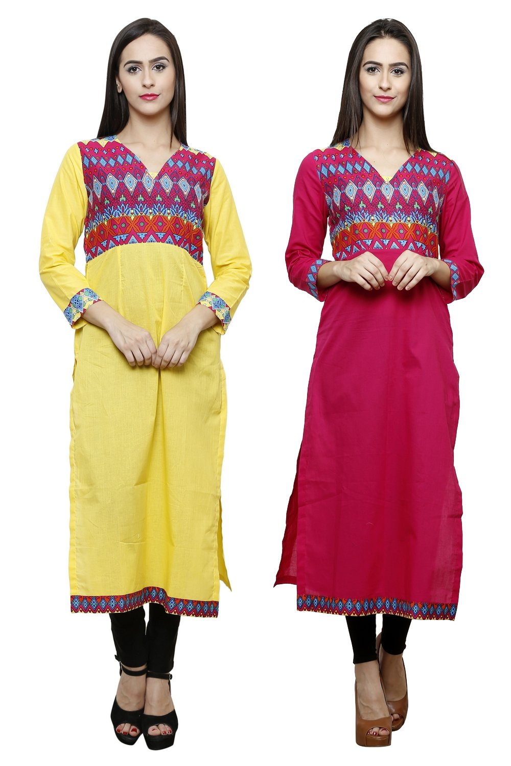 Castle Pack of 2 Solid Cotton Kurta