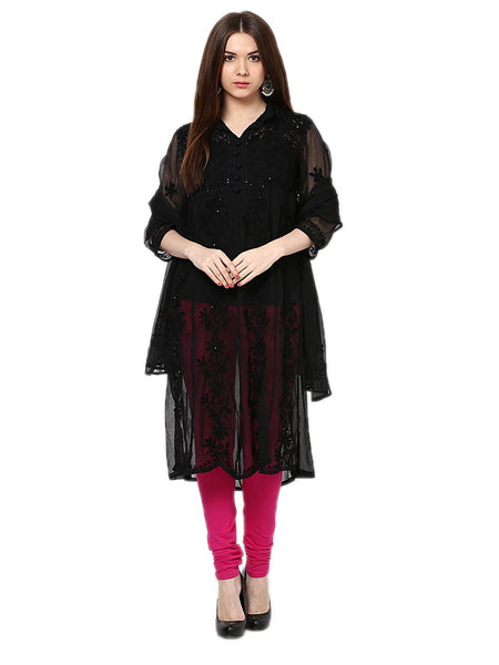 Castle Pack of 2 Embroidered Georgette Kurta - Castle Lifestyle