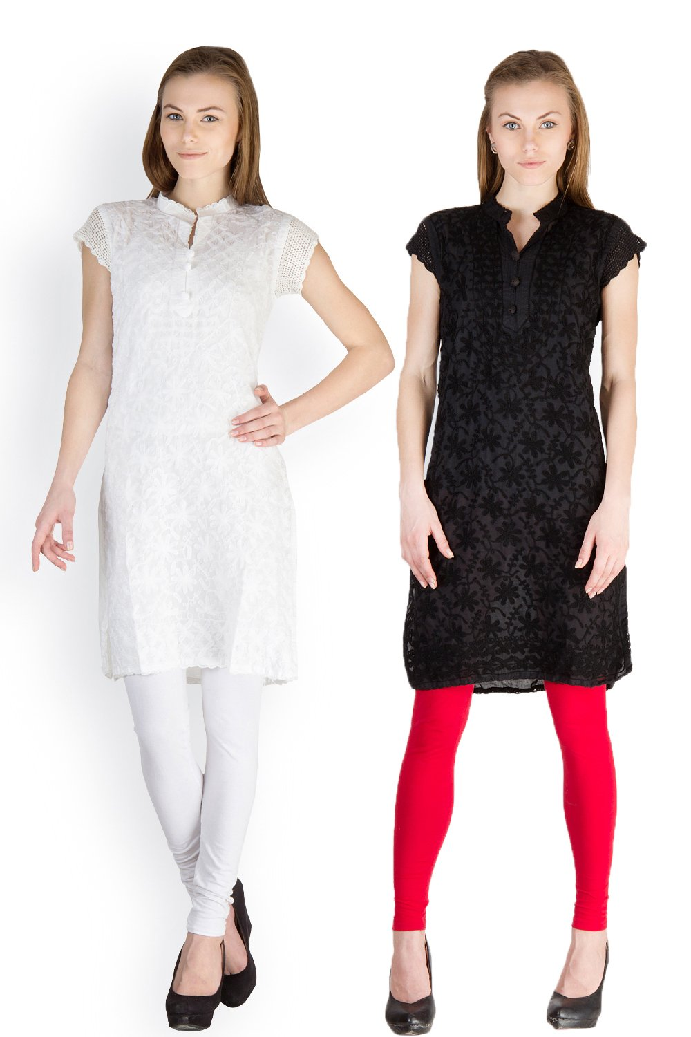 Castle Pack of 2 Embroidered Cotton Kurti