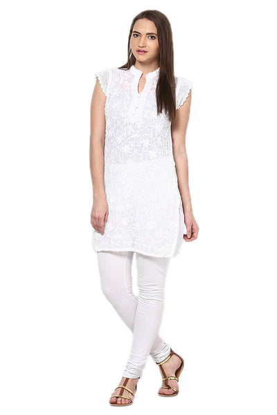 Castle Pack of 2 Embroidered Georgette Kurti - Castle Lifestyle