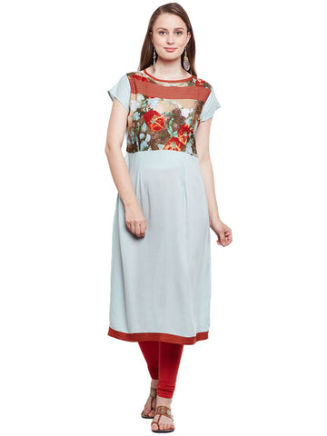 Castle Multicolored Chikankari Georgette Kurta