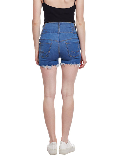 Castle Light Blue High Waist Shorts - Castle Lifestyle