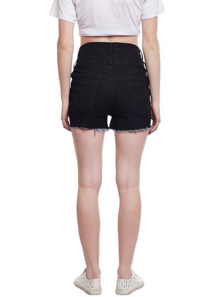 Castle Black High Waist Shorts - Castle Lifestyle