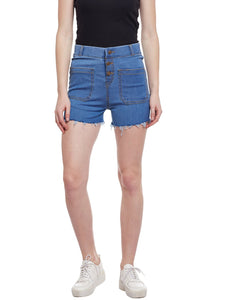 Castle Light Blue Cut-Offs Denim Shorts
