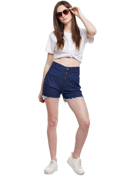 Castle Dark Blue Denim Shorts - Castle Lifestyle