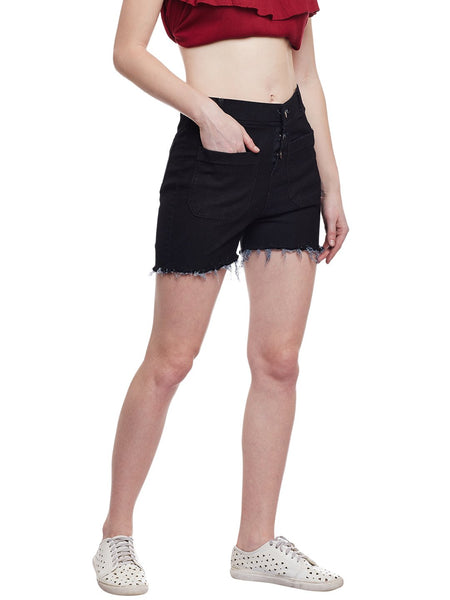 Castle Black Denim Shorts - Castle Lifestyle