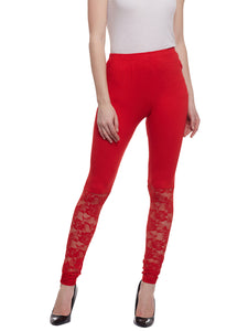 Castle Red Half Net Viscose Legging - Castle Lifestyle
