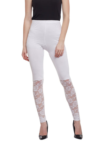 Castle Red Half Net Viscose Legging