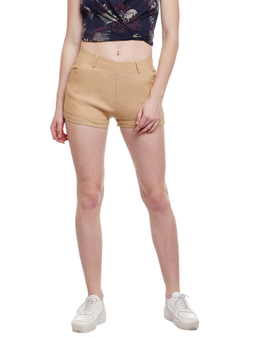 Castle Fawn Plain Cotton Spandex Shorts
