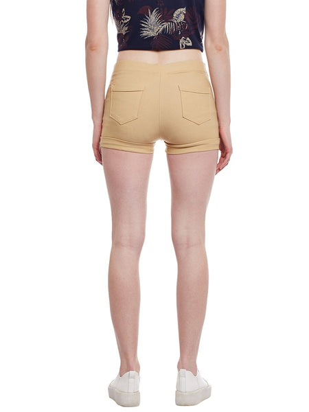 Castle Fawn Double Zip Cotton Spandex Shorts - Castle Lifestyle