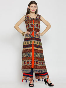Castle Multicoloured Printed Rayon Kurta