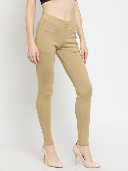 Castle Fawn Solid Pontee Jeggings - Castle Lifestyle