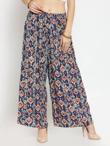 Castle Multicoloured Printed Rayon Palazzo