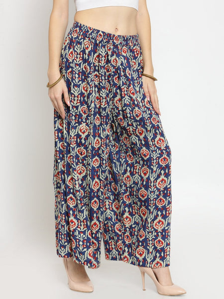 Castle Multicoloured Printed Rayon Palazzo - Castle Lifestyle