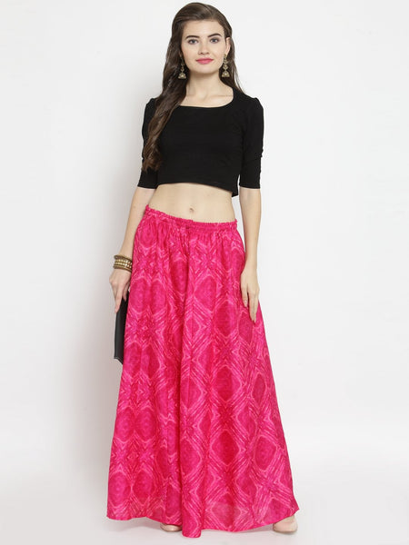 Castle Pink Tie & Dye Flared Skirt - Castle Lifestyle