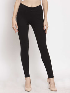 Castle Black Solid Pontee Jeggings