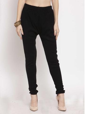 Castle Black Solid Woolen Legging