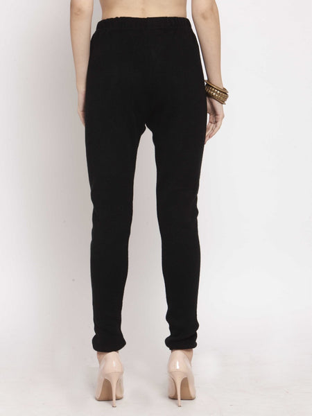 Castle Black Solid Woolen Legging - Castle Lifestyle