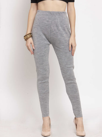 Castle Grey Solid Woolen Legging - Castle Lifestyle