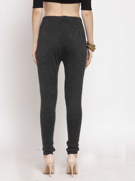 Castle Dark Melange Solid Woolen Legging - Castle Lifestyle