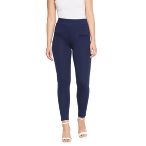Castle Navy Blue Elastane Jegging
