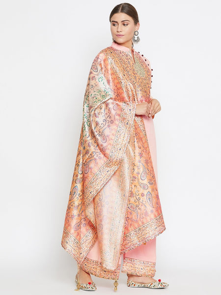 Castle pink digital print kurta with palazzo set