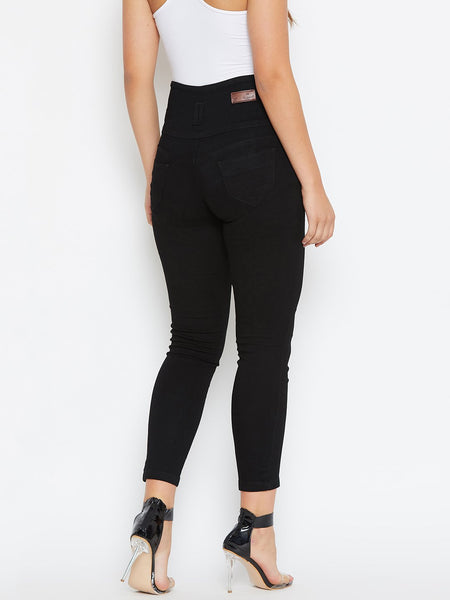 Castle Black slim-fit high rise Denim Jeans