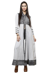 Castle Front Slit Open Grey Modal Maxi top