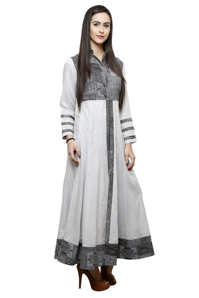 Castle Front Slit Open Grey Modal Maxi top - Castle Lifestyle
