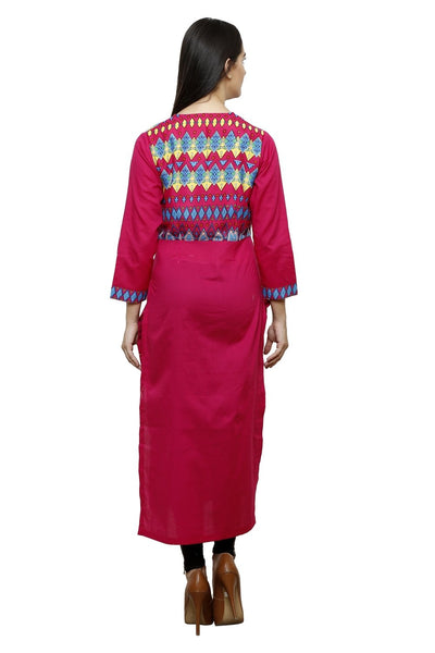 Castle Magenta Solid Cotton Kurta - Castle Lifestyle