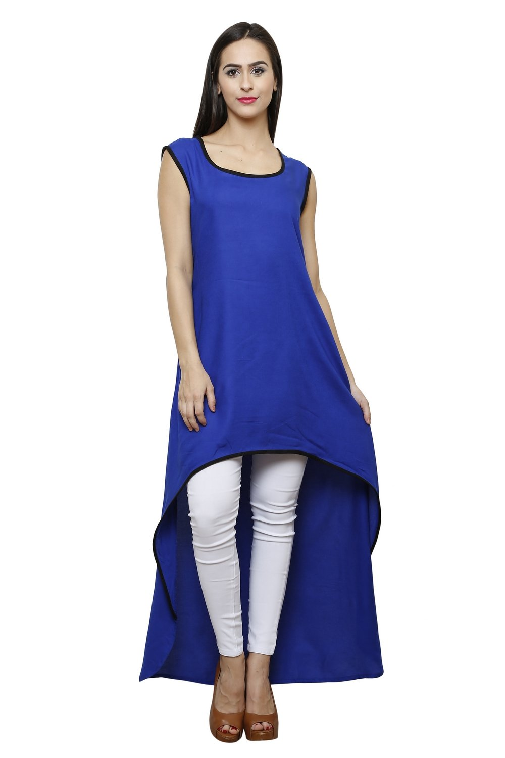 Castle Royal blue Rayon Kurta