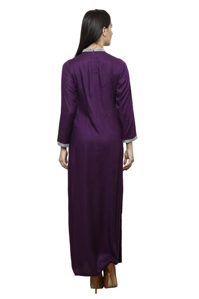 Castle Side Slit Wine Rayon Kurta - Castle Lifestyle