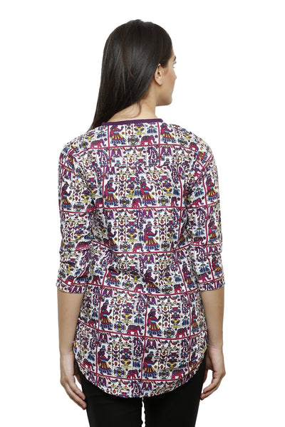 Castle Multicolour Printed Rayon Top - Castle Lifestyle