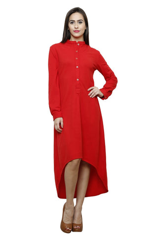 Castle Red Mattei Long Dress