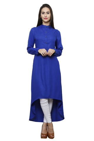 Castle Royal blue  Rayon Long Dress