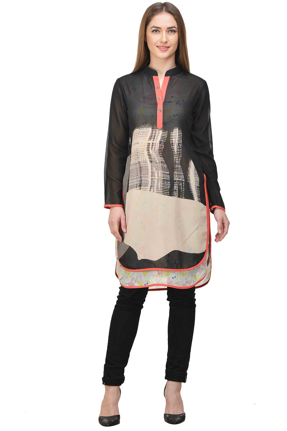 Castle Multicoloured Printed Georgette Tunic