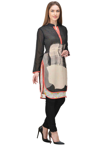 Castle Multicoloured Printed Georgette Tunic - Castle Lifestyle