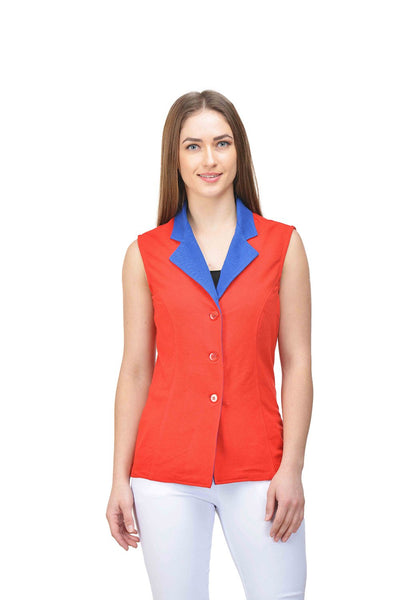 Castle Red Cotton Knitted Jacket - Castle Lifestyle