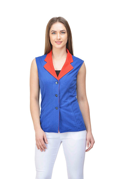 Castle Royal Blue Cotton Knitted Jacket - Castle Lifestyle
