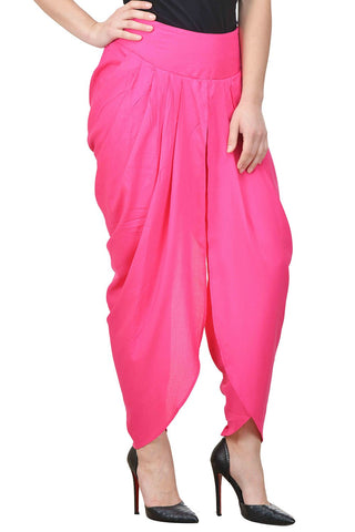 Castle Magenta Solid Rayon Dhoti Salwar - Castle Lifestyle