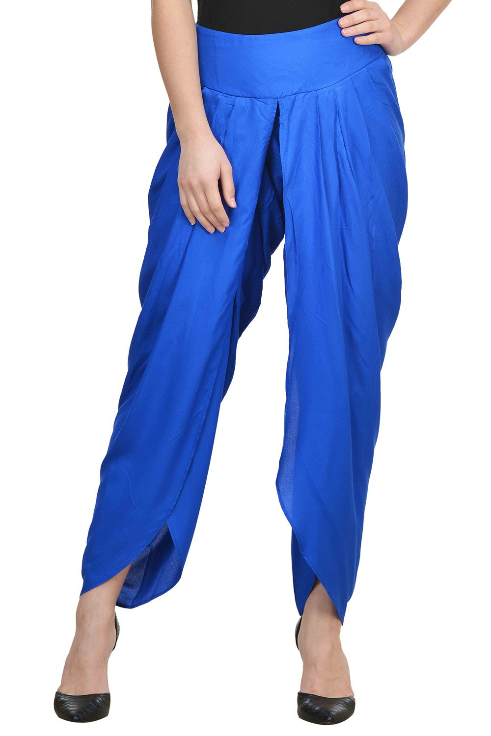 Castle-Royal-Blue-Solid-Rayon-Dhoti-Salwar