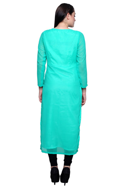 Castle Sea Green Printed Kurta - Castle Lifestyle