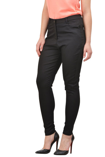 Castle Black Cotton Spandex Pants - Castle Lifestyle
