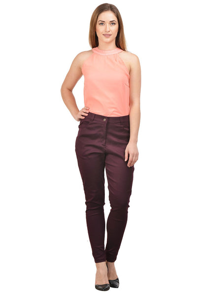 Castle Wine Cotton Spandex Pants - Castle Lifestyle