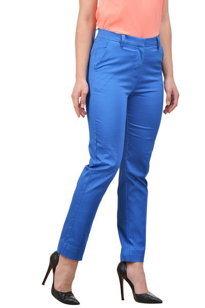 Castle Royal Blue Cotton Spandex Trouser - Castle Lifestyle